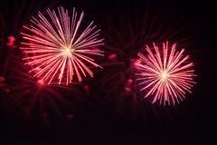 Años Nuevos de fuegos artificiales Imágenes de archivo libres de regalías