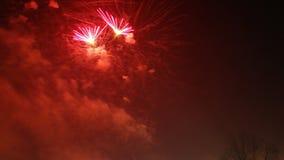 Años Nuevos de fuegos artificiales Fotos de archivo libres de regalías