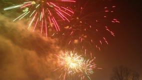 Años Nuevos de fuegos artificiales Foto de archivo libre de regalías