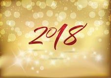 2018 Años Nuevos de la tarjeta de la celebración Fotos de archivo libres de regalías