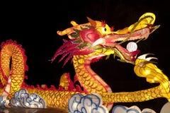 Años Nuevos de linterna del dragón Foto de archivo libre de regalías