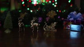 Años Nuevos de los ciervos de luces del trineo metrajes