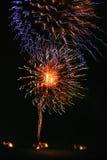 Años Nuevos de los fuegos artificiales Imagenes de archivo