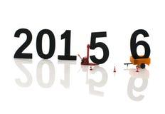 Años Nuevos de números Imágenes de archivo libres de regalías