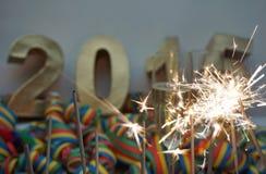 Años Nuevos de noche Imágenes de archivo libres de regalías