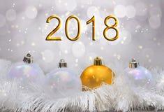2018 Años Nuevos de oro Imagenes de archivo
