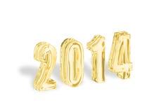 2014 Años Nuevos de oro Imagen de archivo libre de regalías