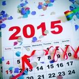 2015 Años Nuevos de partido Imagen de archivo