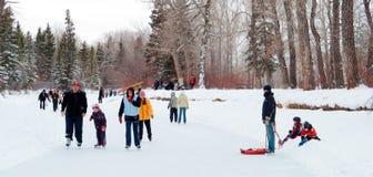 Años Nuevos de patinaje del día Imagen de archivo