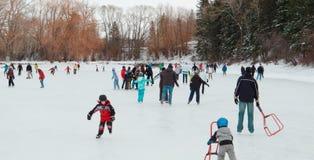 Años Nuevos de patinaje del día Foto de archivo libre de regalías