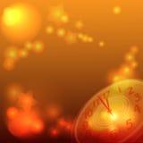 Años Nuevos de reloj Fotografía de archivo libre de regalías
