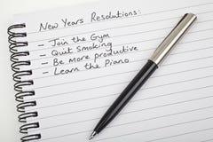 Años Nuevos de resoluciones Foto de archivo libre de regalías