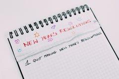 Años Nuevos de resoluciones Fotografía de archivo