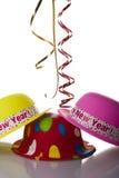 Años Nuevos de sombreros Imagen de archivo libre de regalías