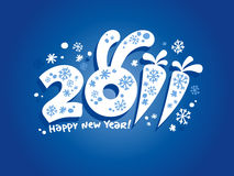 Años Nuevos de tarjeta 2011. ilustración del vector