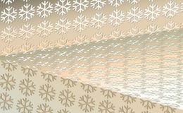 Años Nuevos del fondo color nata, la Navidad de los copos de nieve ligeros en color de la nuez del contexto Ejemplo del vector pa ilustración del vector