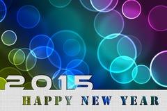 2015 Años Nuevos, invitación, burbujas que vuelan Foto de archivo
