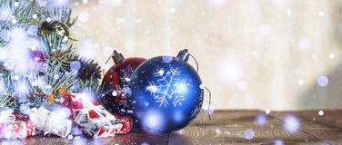 2018 Años Nuevos, la Navidad Decoraciones de la Navidad Fotos de archivo
