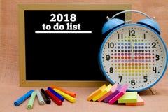 2018 Años Nuevos para hacer la lista Fotos de archivo libres de regalías