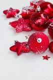 Años Nuevos rojos de decoraciones Foto de archivo libre de regalías