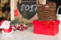 Años Nuevos y deco de la Navidad Imagen de archivo