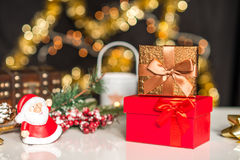 Años Nuevos y deco de la Navidad Fotografía de archivo