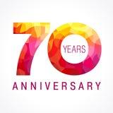 70 años que celebran el logotipo ardiente libre illustration