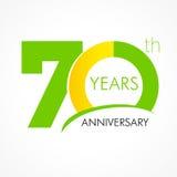 70 años que celebran el logotipo clásico Fotos de archivo