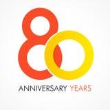 80 años que celebran el logotipo clásico Foto de archivo