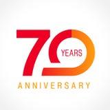 70 años que celebran el logotipo clásico libre illustration