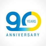 90 años que celebran el logotipo clásico Imagen de archivo