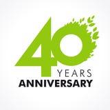 40 años que celebran verde Imagenes de archivo