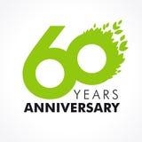 60 años que celebran verde Fotos de archivo