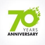 70 años que celebran verde ilustración del vector