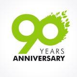 90 años que celebran verde Imagen de archivo libre de regalías
