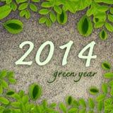2014 años verdes Fotos de archivo libres de regalías
