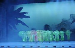 Años- verdes en segundo lugar de acto de los eventos del drama-Shawan de la danza del pasado Imagen de archivo