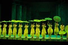 Años- verdes en segundo lugar de acto de los eventos del drama-Shawan de la danza del pasado Imágenes de archivo libres de regalías