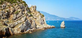 Aúlla el castillo de la jerarquía del trago, península crimea, el Mar Negro, Imagenes de archivo