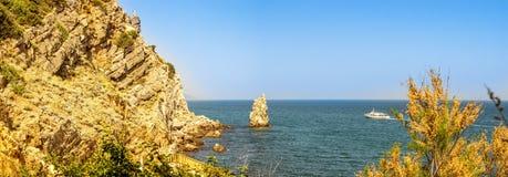 Aúlla el castillo de la jerarquía del trago, península crimea, el Mar Negro, Imagen de archivo libre de regalías