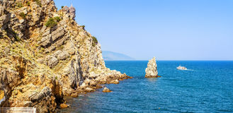 Aúlla el castillo de la jerarquía del trago, península crimea, el Mar Negro, Foto de archivo libre de regalías