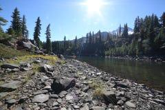 Aúlla el lago en Jefferson Wilderness Park Foto de archivo libre de regalías