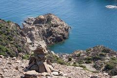 Aúlle en Cap de Creus, Cadaques, España Fotografía de archivo