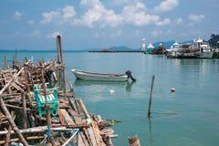 Aúlle en el pueblo pesquero de la explosión Bao Imagen de archivo