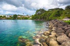 Aúlle en la costa del Fort-de-France de la ciudad, Martinica Fotografía de archivo libre de regalías