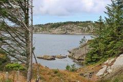 Aúlle en la costa oeste de Noruega, Europa Imágenes de archivo libres de regalías