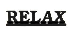 """Aún  de madera del """"RELAX†de la vida Fotografía de archivo libre de regalías"""
