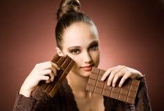 Aún más chocolate. Foto de archivo