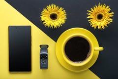 Aún vida amarilla y negra Foto de archivo
