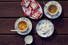 Aún-vida con café Imagen de archivo